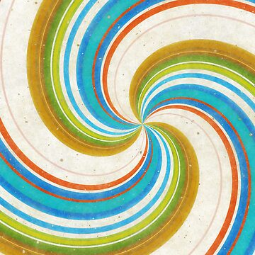 Swirling Retro Candy Pop by Prawny
