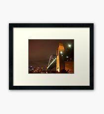 Sydney Harbour Bridge, at night  Framed Print