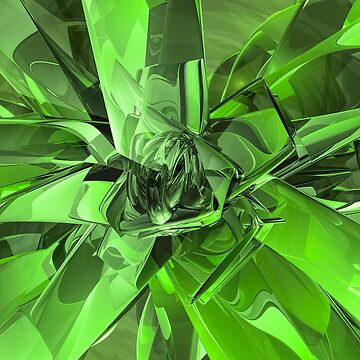 Green Abstract by perkinsdesigns