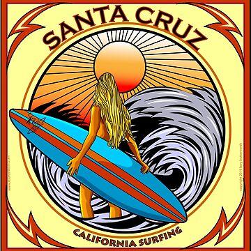 SANTA CRUZ CALIFORNIA SURFING by theoatman
