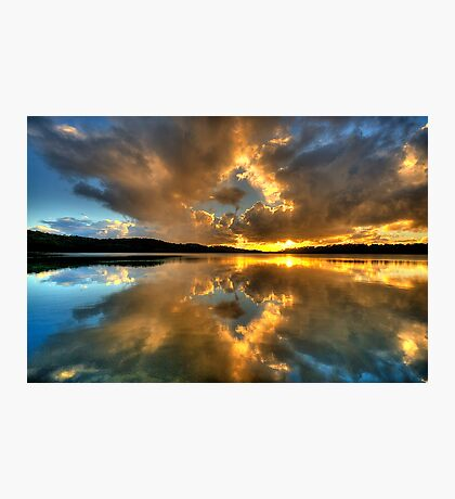 Through The Looking Glass - Narrabeen Lakes - The HDR Experience Photographic Print