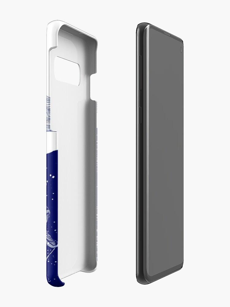 Alternative Ansicht von Die blau schimmernden Seelichter Hülle & Klebefolie für Samsung Galaxy