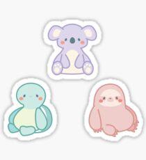 SlowBros: Turtle, Koala, and Sloth Sticker