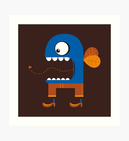Blue Fly Snack Art Print