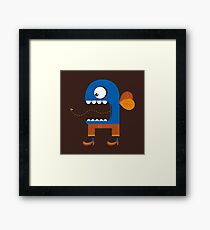 Blue Fly Snack Framed Print