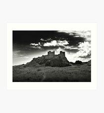 Bamburgh Castle in Northumberland, UK Art Print