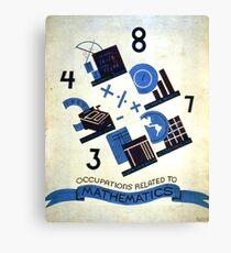 Math Occupations Premium Tee Canvas Print
