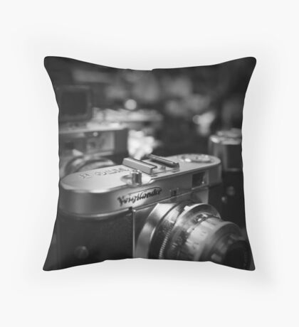 Aging Gracefully - Voigtlaender vintage camera Throw Pillow