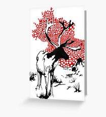 Reindeer drawing Greeting Card