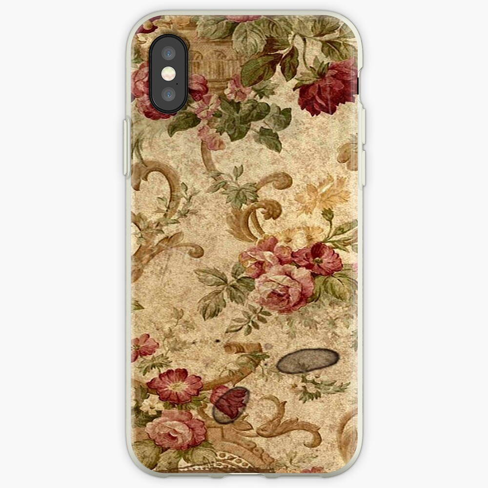 Case Shabby Chic Country.Antique Rustic Floral Wall Paper Shabby Chic Country Chic Elegant Old Grunge Iphone Case Cover
