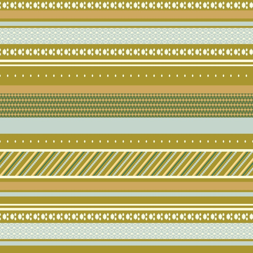 Blue and green stripe pattern by ShannaMelissa