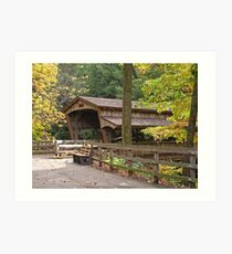Mill Creek Covered Bridge Art Print