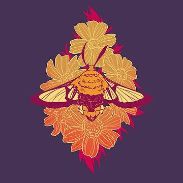 Bee Hawk-Moth by FionaCreates72
