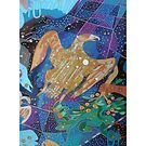 Ten Stars of the Eagle's Harp giclee with borders by Denise Weaver Ross