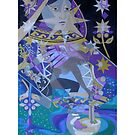 The Lunar Queen giclee with borders by Denise Weaver Ross