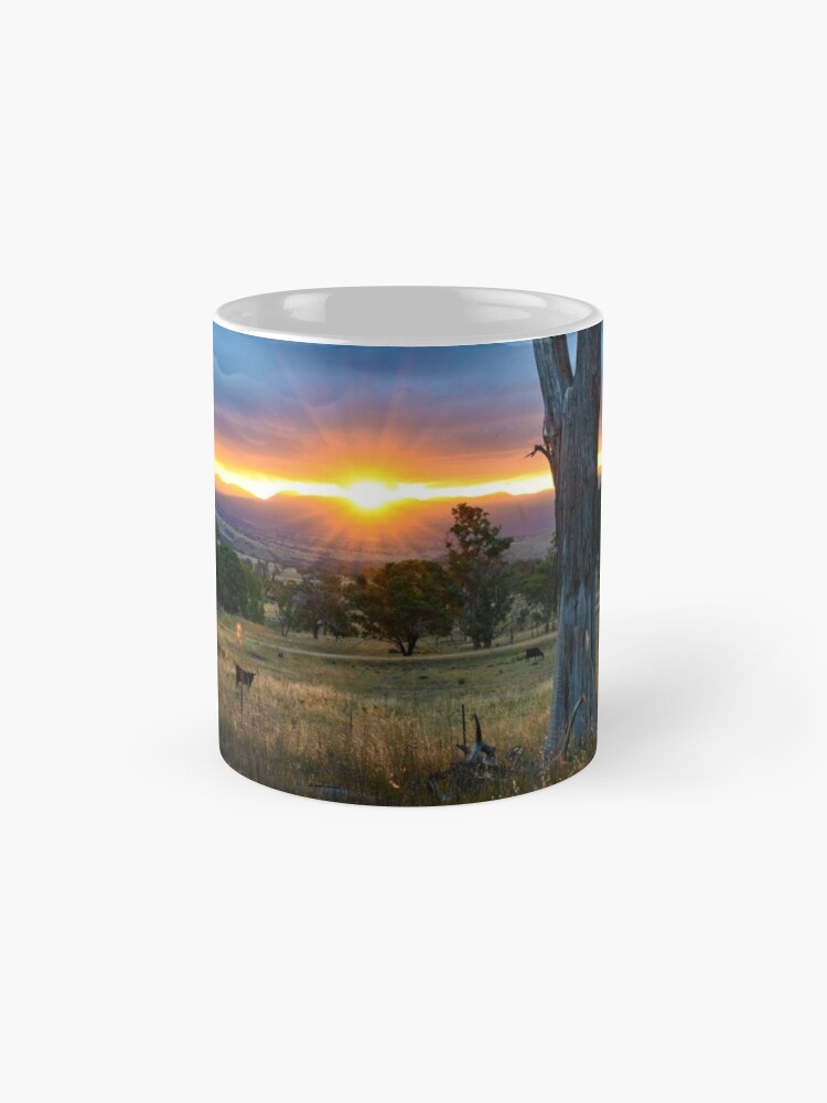 Alternate view of Sunset over the Brindabellas Mugs