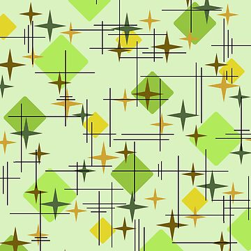 MidCentury Modern Pattern Chartreuse Citrus by thepixelgarden
