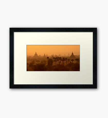 Bagan Sunrise Framed Print
