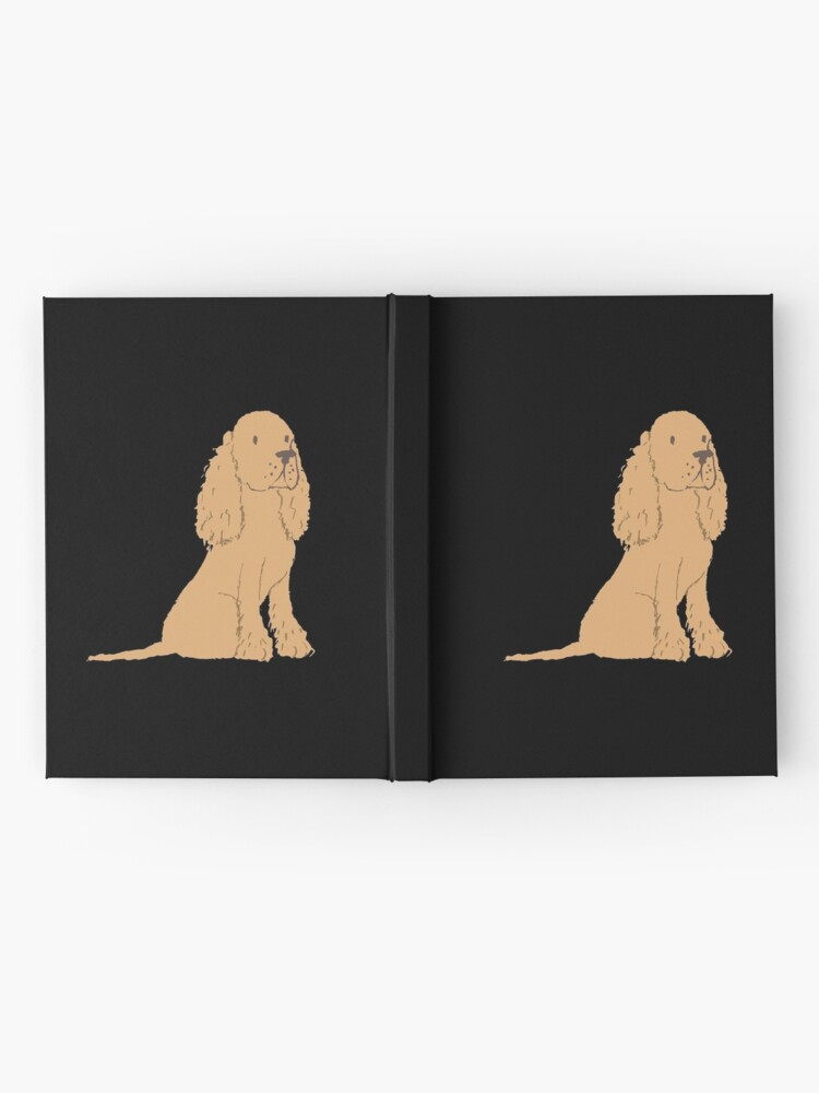 Alternate view of  Golden Spaniel - Watercolor Style Spaniel Hardcover Journal