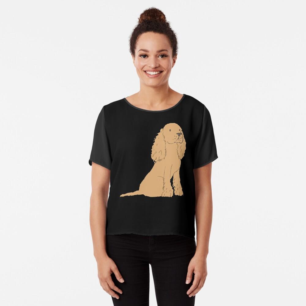Golden Spaniel - Watercolor Style Spaniel Chiffon Top