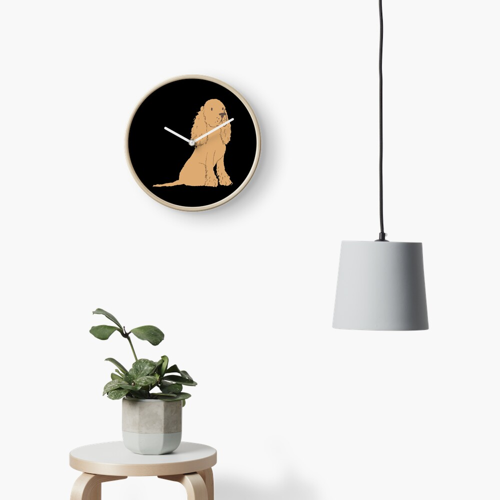 Golden Spaniel - Watercolor Style Spaniel Clock