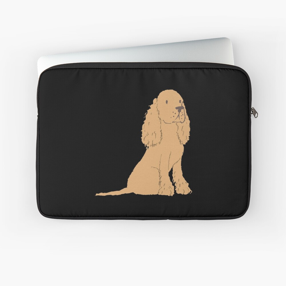 Golden Spaniel - Watercolor Style Spaniel Laptop Sleeve