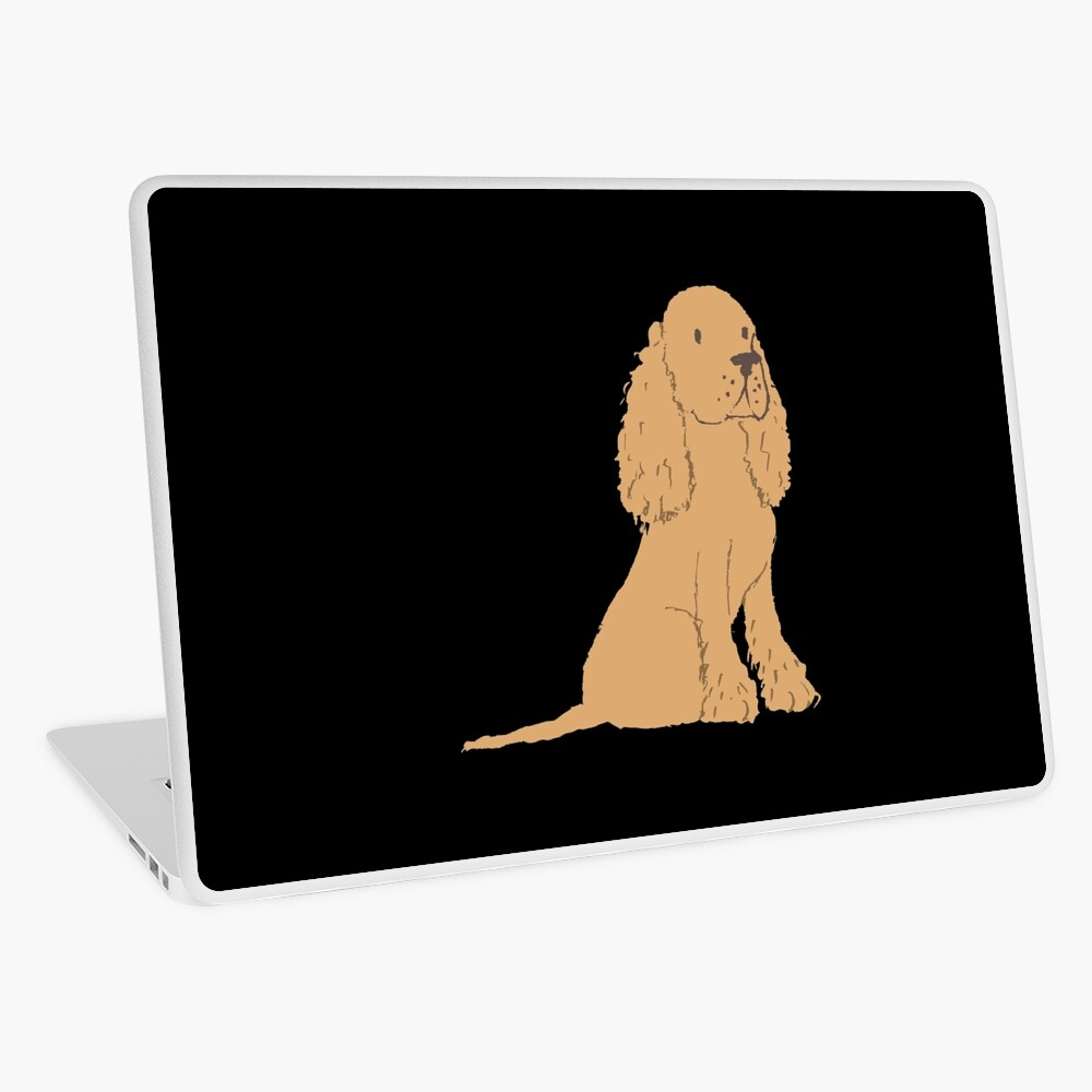 Golden Spaniel - Watercolor Style Spaniel Laptop Skin