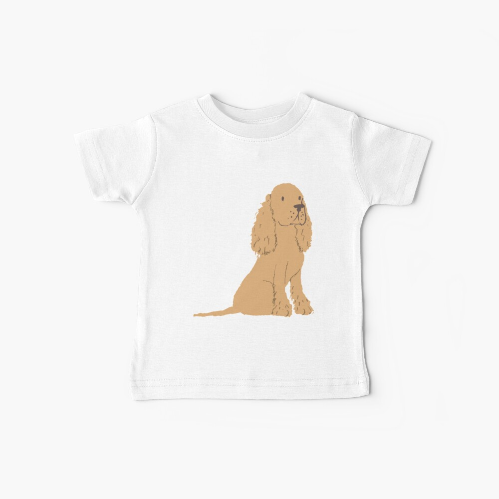 Golden Spaniel - Watercolor Style Spaniel Baby T-Shirt