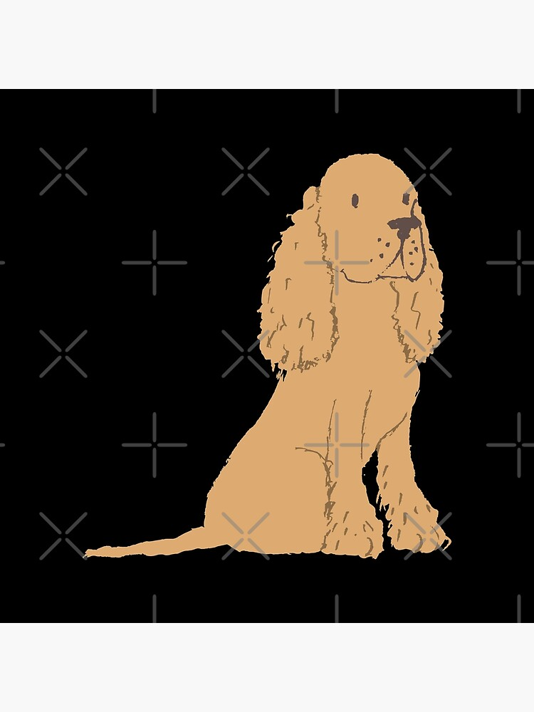 Golden Spaniel - Watercolor Style Spaniel by dog-gifts