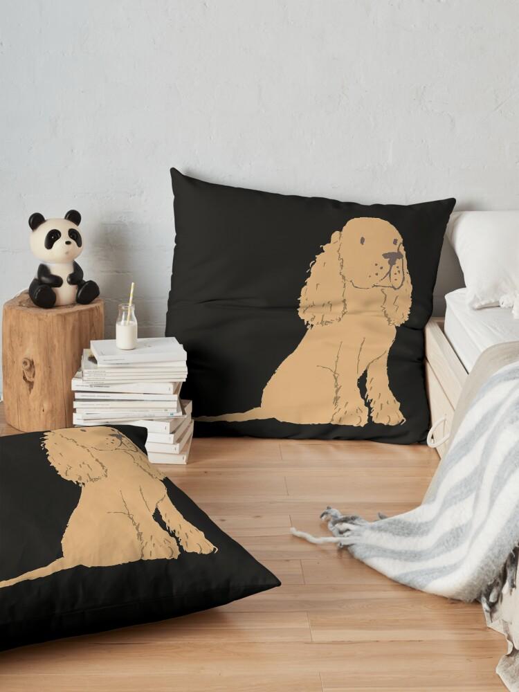 Alternate view of  Golden Spaniel - Watercolor Style Spaniel Floor Pillow