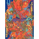 The Queen's Fire giclee with borders by Denise Weaver Ross
