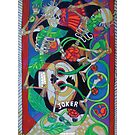 Exit Stage Left giclee with borders by Denise Weaver Ross
