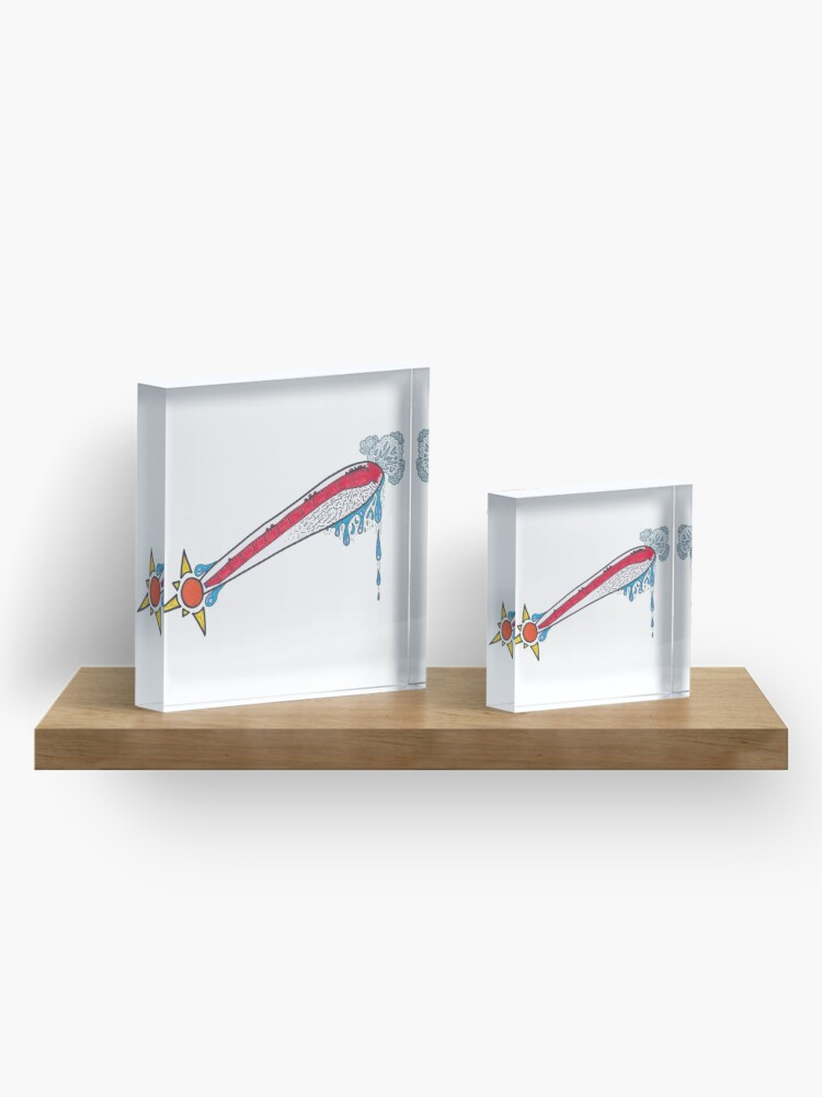 Alternate view of Merch #21 -- Thermometer Exclamation Acrylic Block