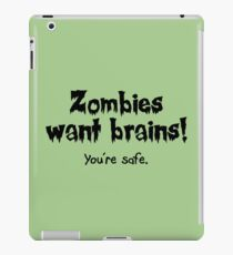 Zombies Want Brains! iPad Case/Skin