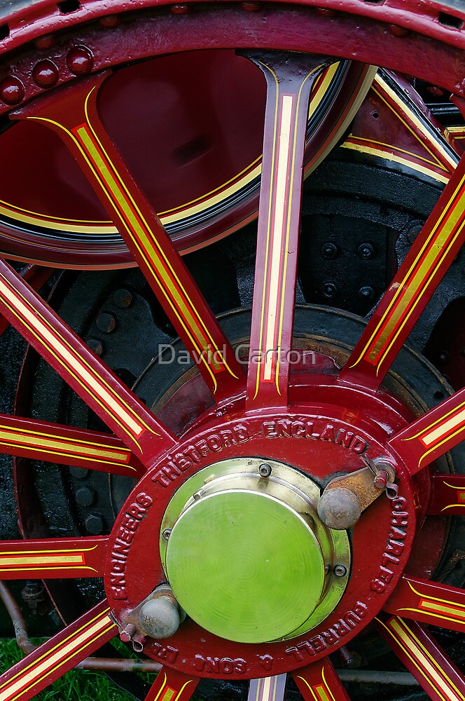 Traction engine wheel by David Carton