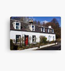 Corrie Cottages Canvas Print