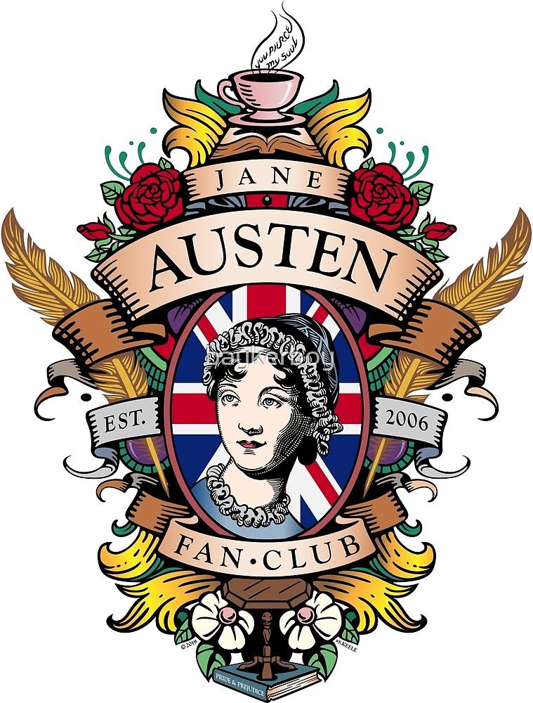 Jane Austen Fan Club Commemorative Crest color by baykerboy