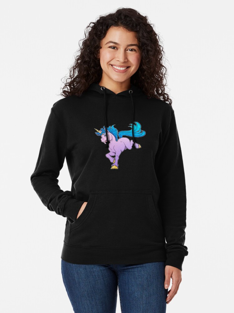 Alternate view of Sweet Sparkle Unicorn Lightweight Hoodie