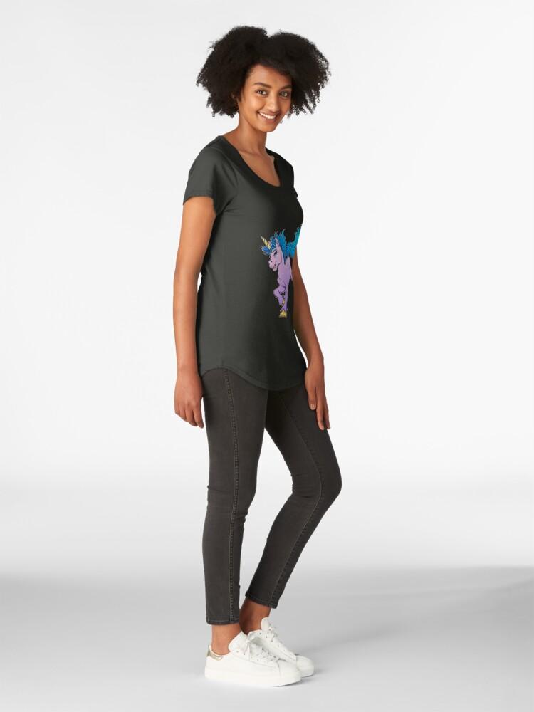 Alternate view of Sweet Sparkle Unicorn Premium Scoop T-Shirt