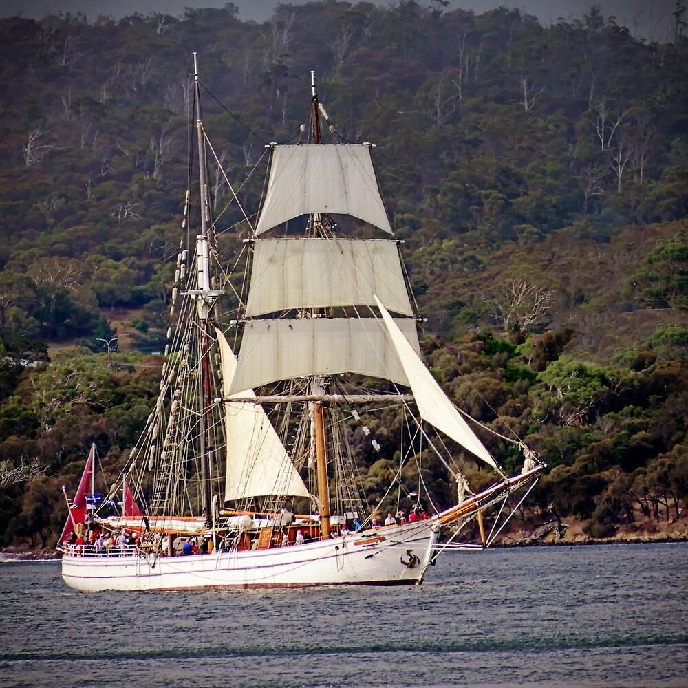 Soren Larsen At The Australian Wooden Boat Festival 2019 By