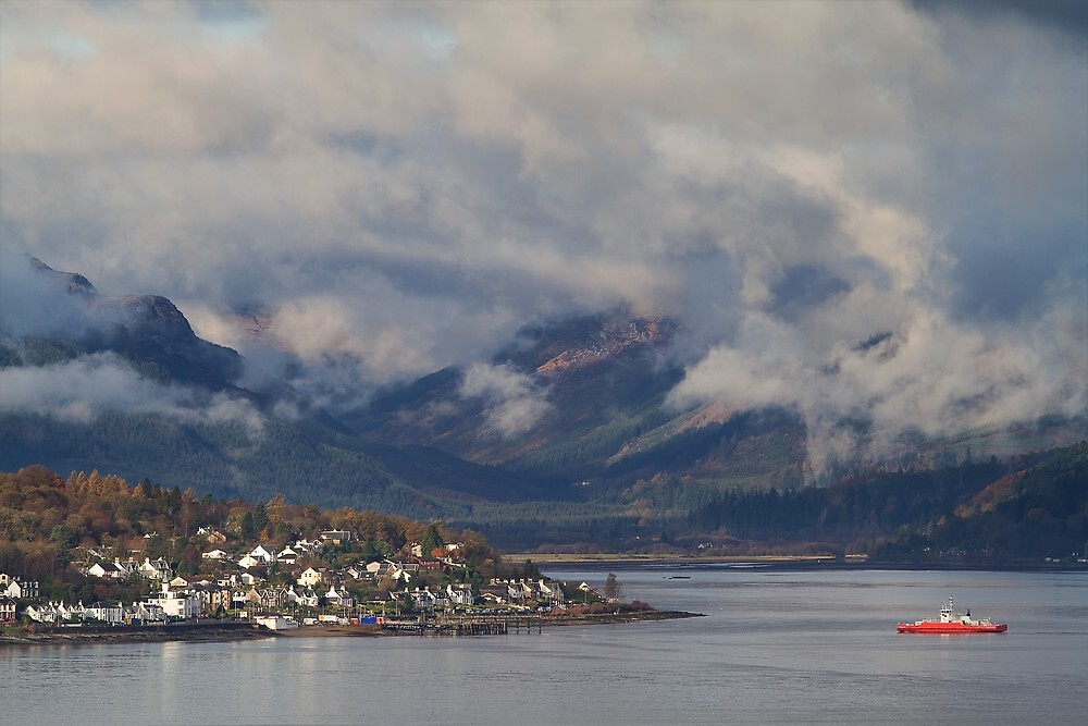 """Sandbank, Dunoon, from across """"The Water"""" of Clyde by PhotobyOve"""