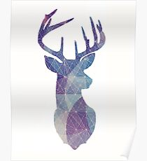The Stag - Blue and Purple Galaxy1 Poster