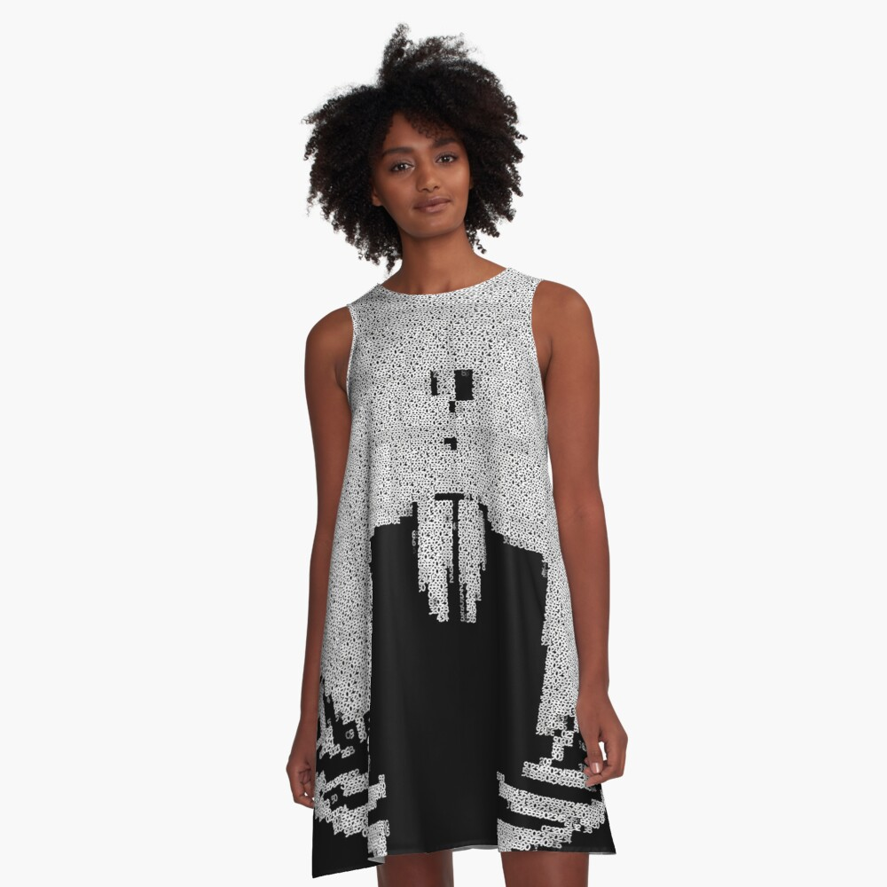 _A^NON ASCii ^RT by RootCat __2019 A-Line Dress