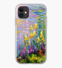 Flowers by the pond iPhone Case