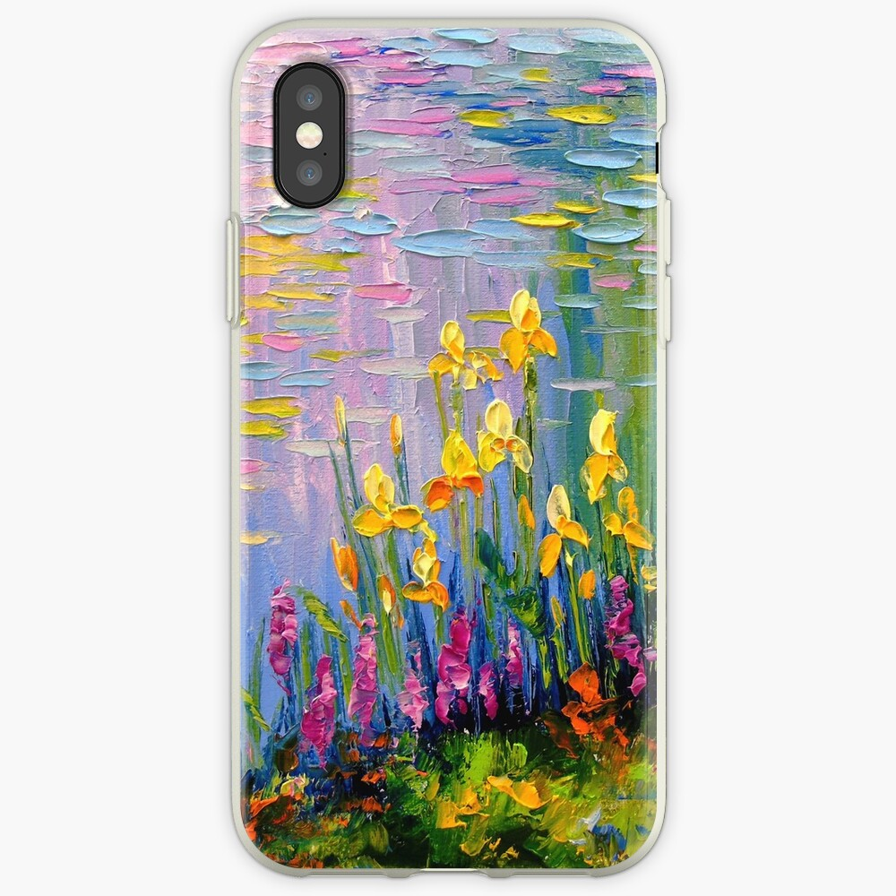 Flowers by the pond iPhone Cases & Covers