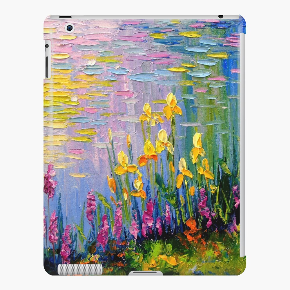 Flowers by the pond iPad Case & Skin
