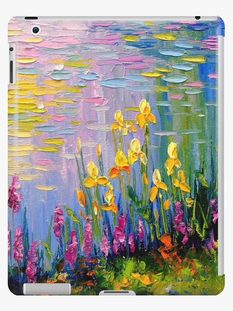 «Flores junto al estanque» de Olyha