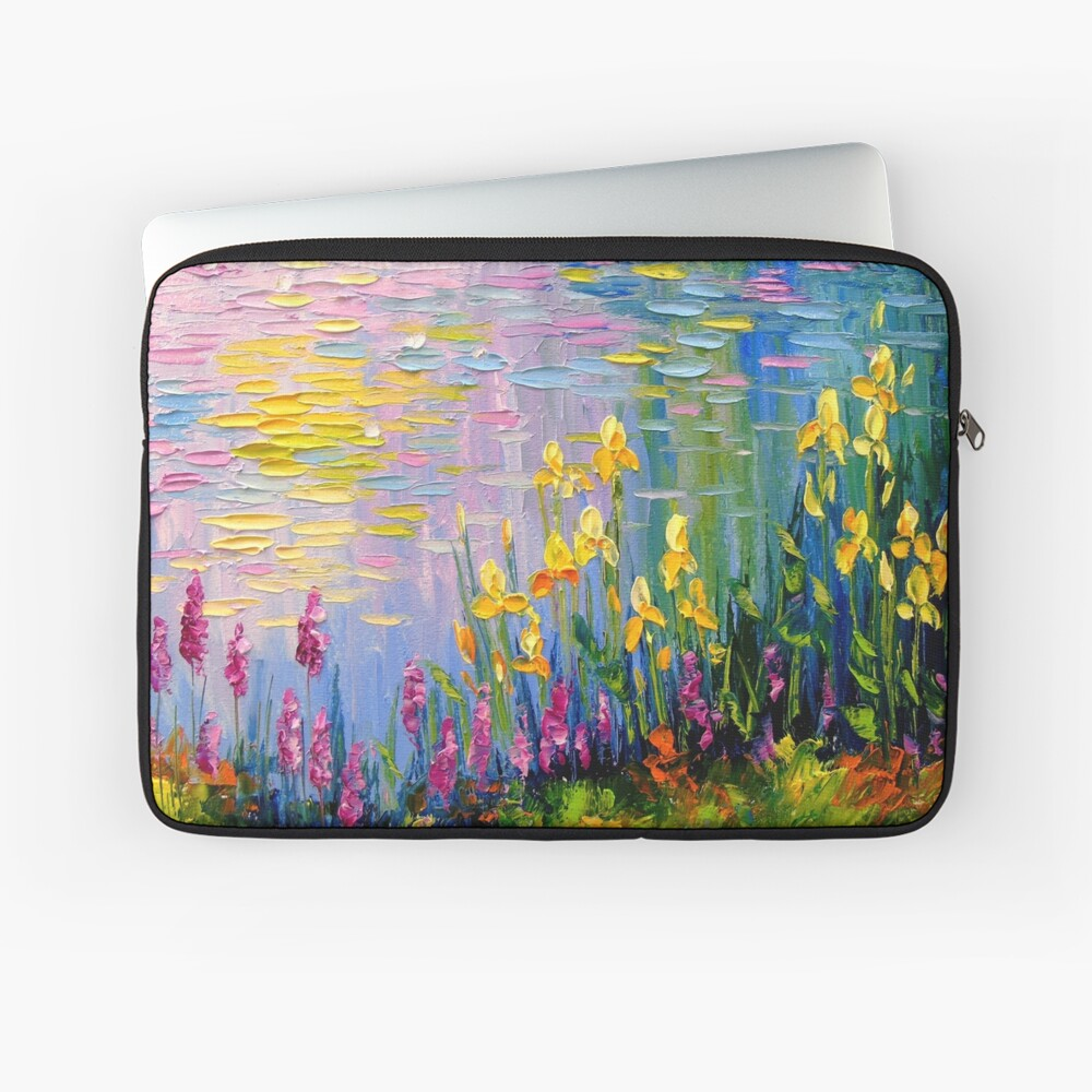 Flowers by the pond Laptop Sleeve