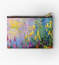 Flowers by the pond Studio Pouch