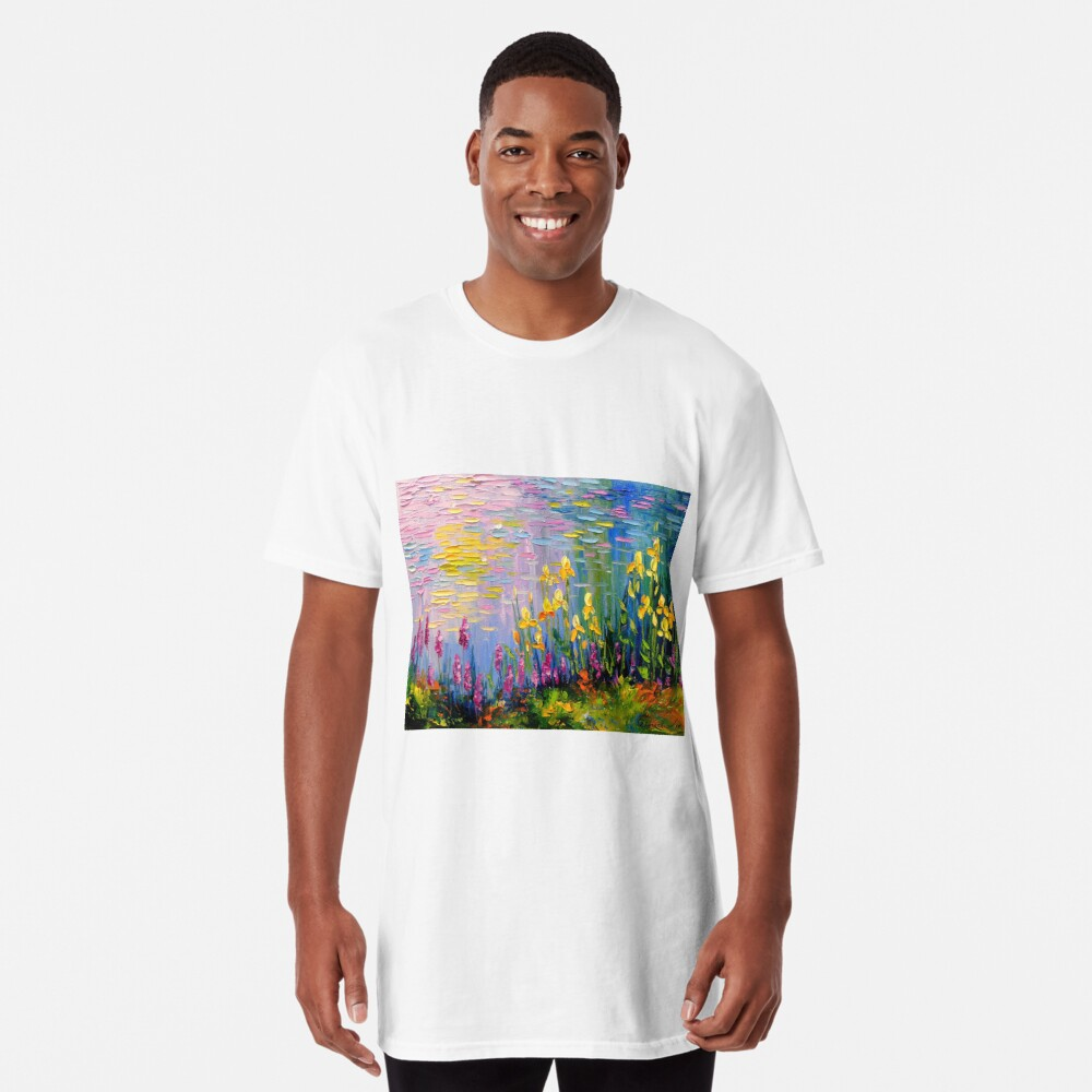 Flowers by the pond Long T-Shirt
